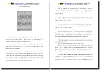 Machiavel, Le Prince, Chapitre XVII, Extrait : commentaire
