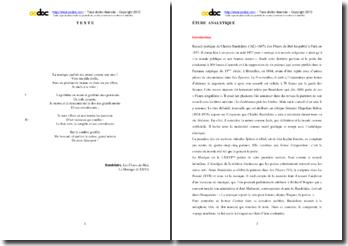 Baudelaire, Les Fleurs du Mal, La Musique (LXXVI) : étude analytique