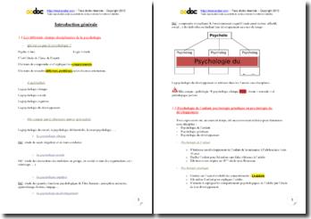 Introduction générale à la psychologie du développement