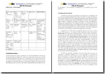 Synthèse de documents et écriture d'invention sur les générations (BTS NRC)