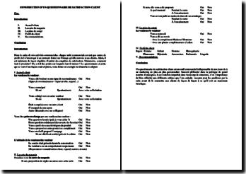 Exemple de questionnaire de satisfaction client