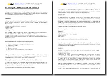 La banque universelle en France