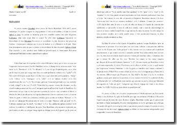 Baudelaire, Elévation : commentaire