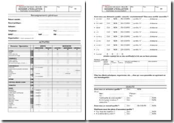 Dossier d'évaluation fournisseur ou sous-traitant