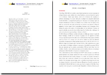 Victor Hugo, Hernani, Acte I scéne 4 : étude analytique
