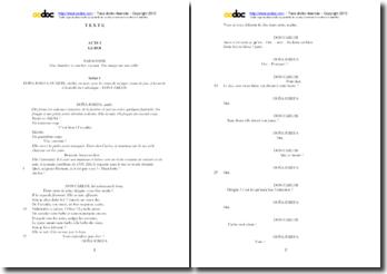 Victor Hugo, Hernani, Acte I scéne 1 : étude analytique