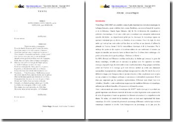Victor Hugo, Hernani, Acte I scéne 2 : étude analytique