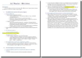 François Mauriac, Bloc-notes : plan de commentaire