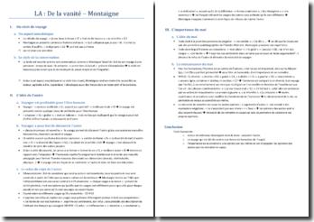 Montaigne, Les Essais, De la vanité : lecture analytique