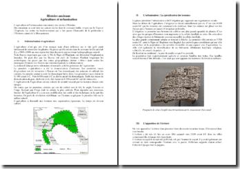 Histoire ancienne : agriculture et urbanisation