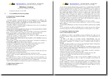 Compte-rendu de la rencontre Bibliothéques et handicaps du 2 décembre 2010, Médiathéque du Val d'Europe