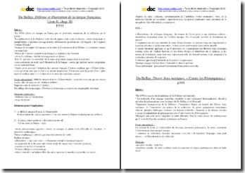 Du Bellay, Défense et Illustration de la langue française, Divers jeux rustiques et Antiquités de Rome