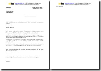 Lettre de résiliation du contrat d'abonnement Orange France Télécom