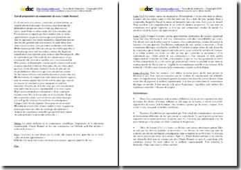 Claude Bernard : travail préparatoire à un commentaire de texte
