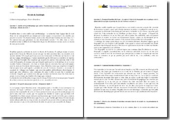 Bourdieu, L'lllusion biographique : questions-réponses