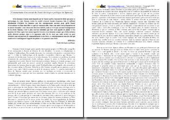 Spinoza, Traité théologico-politique, Extrait : commentaire