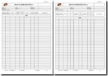 Rapports de contrôle dimensionnels (Excel)