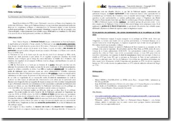 Les Parlements français et anglais sous l'Ancien Régime