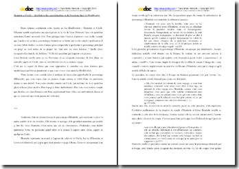 Michel Butor, La Modification : Henriette et Cécile, distribution des caractérisations et des fonctions