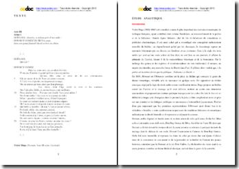 Victor Hugo, Hernani, Acte III scéne 1 : étude analytique