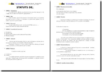 Statuts D Association Etudiante Loi 1901