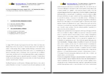 Montaigne, Les Essais, Livre premier, Chapitre XXVI, De l'Institution des enfants : commentaire