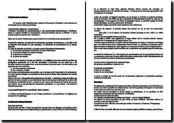 Epistémologie et Psychopathologie - L'épistémologie freudienne