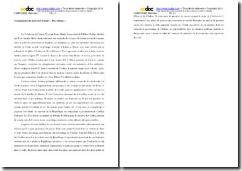 Cicéron, Pro Milone, Plaidoyer pour Milon : commentaire