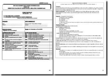 Epreuve ACRC BTS MUC : intégration d'un nouvel employé chez France Telecom (fiche Bilan n 3)