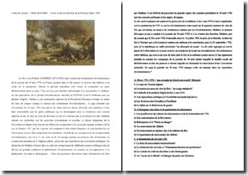 Albert Mathiez, Le Dix Août 1792 : fiche de lecture