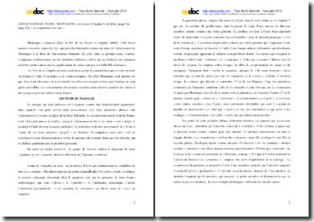Montaigne, Essais, Chapitre 1, Extrait : explication de texte