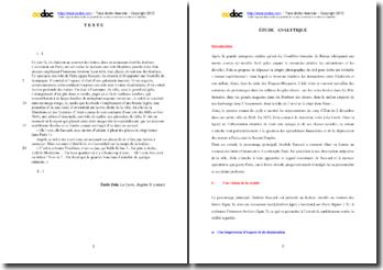 Emile Zola, La Curée, Chapitre II, Extrait : étude analytique