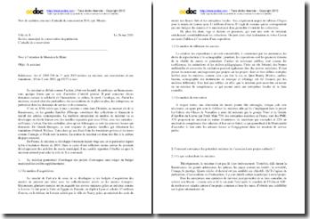 Note de synthése du concours Attaché de conservation 2010 : le mécénat