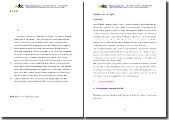 Emile Zola, La Curée, Chapitre III, Extrait : étude analytique