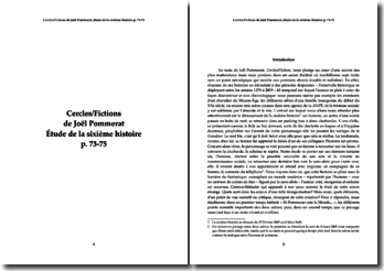 Joël Pommerat, Cercles/Fictions : étude de la sixiéme histoire
