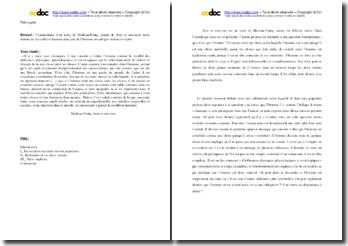 Merleau-Ponty, Sens et non-sens, Extrait : commentaire