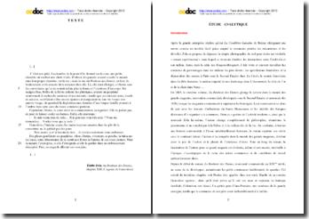 Emile Zola, Au bonheur des dames, Chapitre XIII, L'agonie de Geneviéve : étude analytique