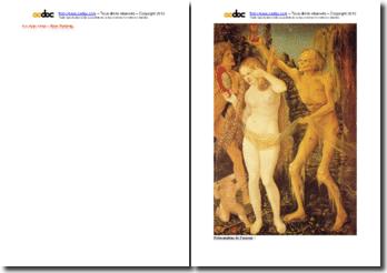 Le corps vieux d'aprés le tableau Hans Baldung, Les trois âges de la vie