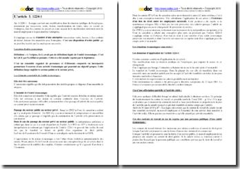 L'article L.1224-1 du Code du travail