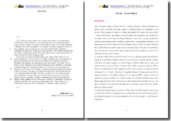 Emile Zola, Nana, Chapitre XI (La victoire de Nana) : étude analytique