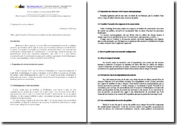 Note de synthése du concours ISCP 2009 : Plan d'accueil et d'information des publics lors des manifestations temporaires