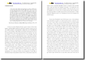 Descartes, Méditations métaphysiques, Quatriéme Méditation, La volonté : commentaire
