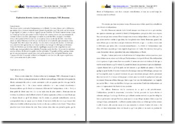 Rousseau, Lettres écrites de la montagne, VIII : explication de texte