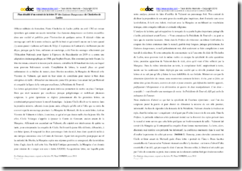 Choderlos de Laclos, Les liaisons dangereuses, Lettre IV : commentaire