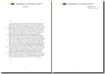 Emile Zola, L'Oeuvre, Chapitre IX, Extrait : étude analytique