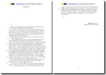 Emile Zola, L'Oeuvre, Chapitre VI, Le projet de Sandoz : étude analytique