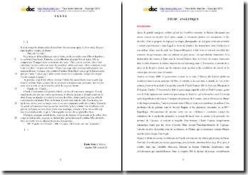 Emile Zola, L'Oeuvre, Chapitre XII, Le suicide de Claude : étude analytique