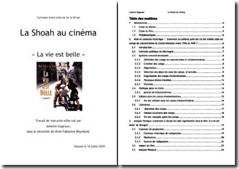 La représentation de la shoah au cinéma : analyse du film La vie est belle de Roberto Benigni