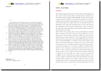 Zola, La Terre, Troisiéme partie, Chapitre I, Extrait : étude analytique