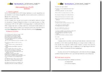 Apollinaire, Zone, Vers 115 à 155 : étude linéaire